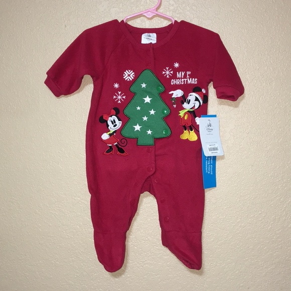 nwt disney baby christmas pajamas